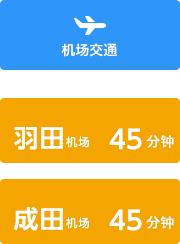 机场交通 羽田机场 需45分钟 成田机场 需45分钟